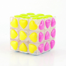 Love Puzzle Magic Cube 3x3x3 Cubo Magico Puzzle Speed Classic Magic Toys For Children Colorful Cute Neo Cube Learning Toys