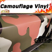 Black Orange Camouflage Wrap Vinyl Film Sticker With Air Rlease For Motorcycle Truck Car Body Wrapping Matte/Glossy Finish