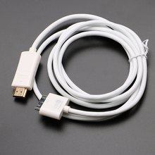 New High Quality High Speed HDMI Converter 30Pin to HDMI Male 1080P Adapter Cable For iPad 2 3 For iPhone 4 4S Power Cable HR