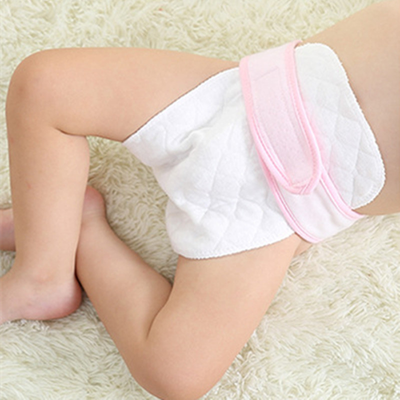 Fun Orange 20 pcs Three layers Health Cotton diapers Breathable Reusable Baby Cloth Diapers Washable Inserts Baby Care Products