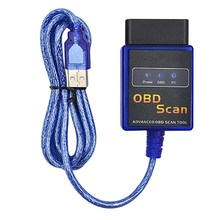 Car ELM327 V2.1 ODB2 II  EOBD Detection Fuel USB Interface Diagnostics Scanner Tool Free Shipping