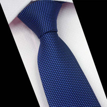 Mantieqingway Business Suits Male Neckwear Tie Popular Men's Tie Cravats Brand Polyester Jacquard Striped Ties Neckties Blue Tie