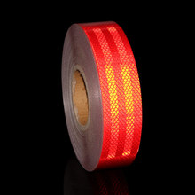 5CMx500CM Red White Yellow Reflective Tape Roll On the Car School Bus Motorcycle Car-styling Sticker Vinyl Outside Fluorescent(China)