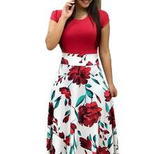 Fashion Women Flower Polka Dot Print Summer Casual Beach Party Maxi Dress  New Arrival 1eda3ec3edea