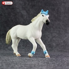 Wiben American Quarter Horse High Quality Simulation Animal Model Action & Toy Figures Educational Collection Toys Gift for Kids(China)
