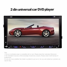 7080B 7 inch 2 Din Car Video DVD Player 2Din MP4 MP5 Player Bluetooth FM Radio Touch Screen with Remote Control Rearview Camera