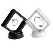1 Pc Floating Suspended Display Case Coins Gems Artefacts Jewellery Stand Holder Box(China)
