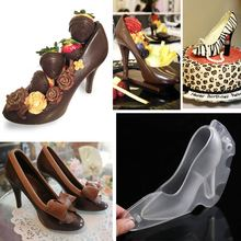 Chocolate Mold Shoe High Heel 3D Cute Candy Mold Sugar Paste Mold Cake Decorating Tools DIY Home Baking Suger Craft Tools(China)