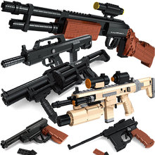 Gun Building blocks gun toy orbeez  M16 AK47 QSZ M45 MP7 Sniper rifle Desert eagle Sniper rifle Assault rifle  gun model