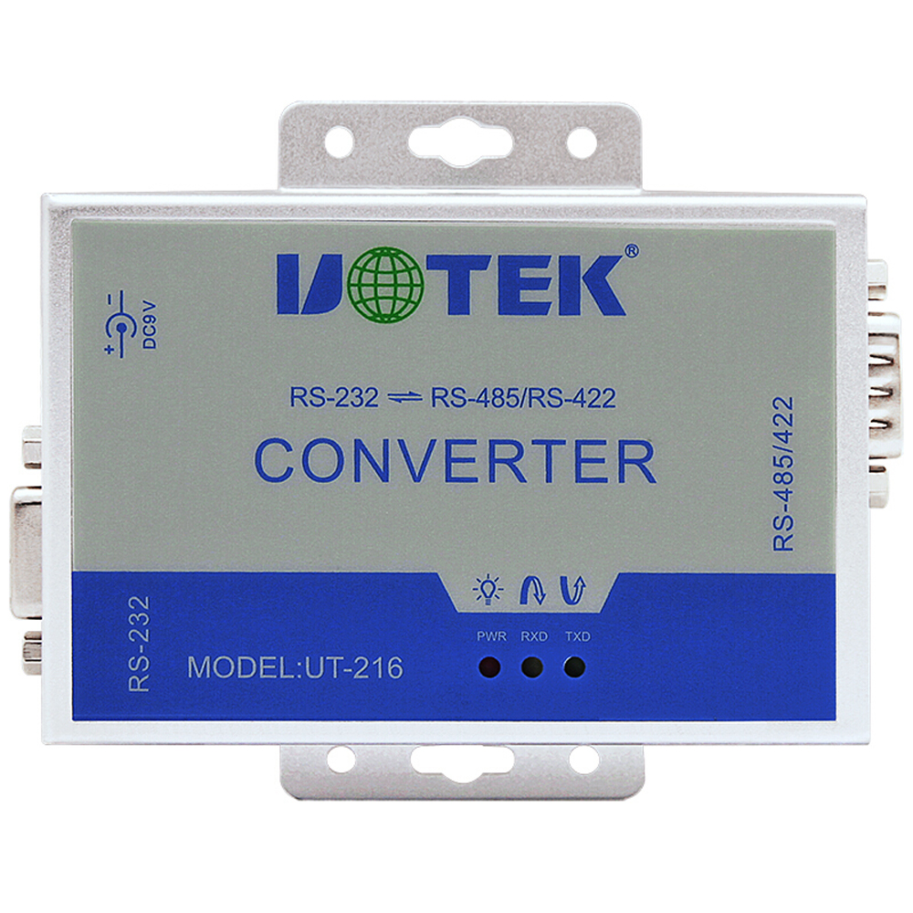 UTEK UT-216 RS-232 to RS-485/RS-422 converter with lightning protection<br>