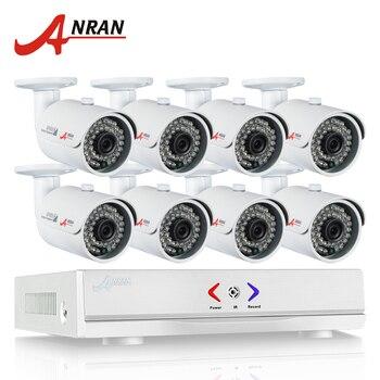 ANRAN Plug&Play 8CH CCTV System 1080N AHD HDMI H.264 CCTV DVR Kit+8 X 1.0MP 720P 1800TVL Waterproof Outdoor Security Camera Set
