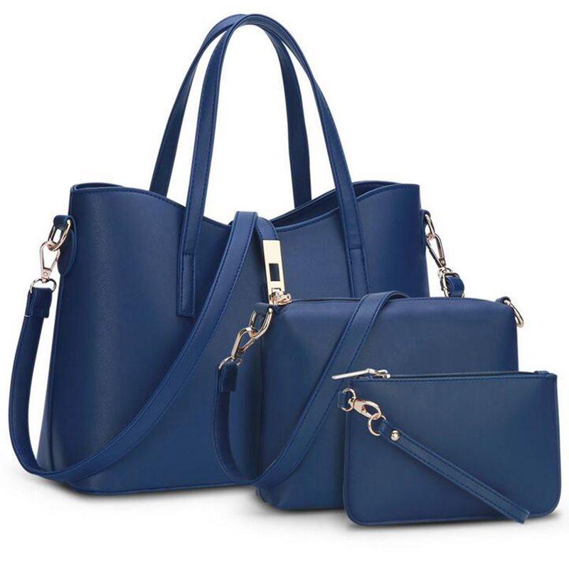 Christmas European and American Fashion Brand Designer Women Handbags High quality Fashion Shoulder Bags 3 bags/set S-121<br>