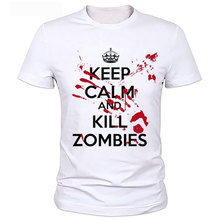 Buy Zombie Design Keep Calm Blood's Mine Undead Blood Walking Xmas Top Daryl Rick Zombies Graphic Printed Tee Men's T Shirt for $13.88 in AliExpress store