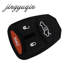 jingyuqin 10X FOR CHRYSLER DODGE JEEP KEYLESS ENTRY REMOTE 4 BUTTON KEY FOB RUBBER BUTTON PAD