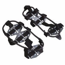 15 Teeth Crampon Winter Outdoor Camping Hiking Clambing Anti Slip Ice Cleats Shoe Boot Grips Crampon Chain Spike Sharp Snow