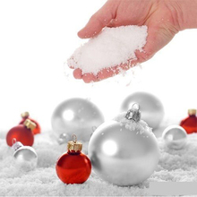 10pcs White Snow for Christmas Fake Magic Instant Snow Fluffy Super Absorbant Decorations For Christmas Wedding New Year Hot(China)