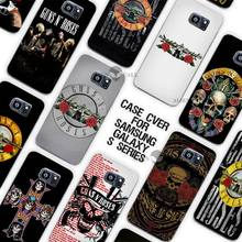 Hot sale  guns n roses Clear Case Cover Coque Shell for Samsung Galaxy S3 S4 S5 Mini S6 S7 Edge Plus