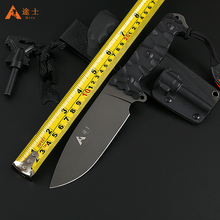 Free Shipping High Quality Hunting Knife Outdoor Survival Camping Knife Tactical Knife with K sheath G10 handle fire starter(China)
