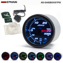 "EPMAN - Car Auto 12V 52mm/2"" 7 Colors Universal PSI Turbo Boost Gauge LED With Sensor and Holder AD-GA52BOOSTPSI(China)"