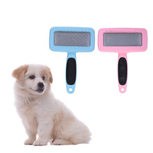 Pet Dog Cat Comb Grooming Stainless Plastic Dematting Hair Tool with ABS Handle  for Dogs Cats Remove Mats and Tangles S/M/L