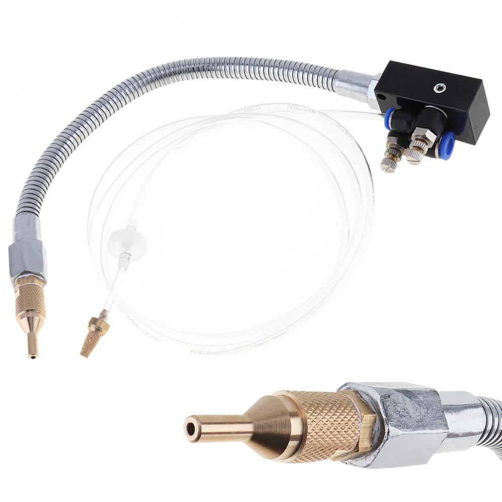 Precision Mist Coolant Lubrication Spray System with Check Valve and Stainless Steel Flexible Pipe<br>