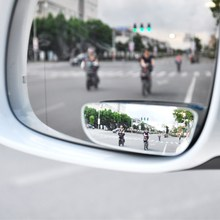 2pcs Car Mirror 360 Degree Wide Angle Convex Blind Spot Mirror Parking Auto Motorcycle Rear View Adjustable Mirror Accessories