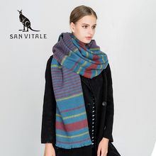 Scarves Women's Scarf Headband Ponchos And Capes Wool Plaid Cotton Pashmina For Dress Luxury Brand Silk Scarf Luxury Brand Wool(China)