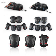 Jiepolly 6pcs/Set Sports Safety Set Knee Pads Elbow Pads Wrist Protector Kneepads Protection for Scooter Cycling Roller Skating(China)