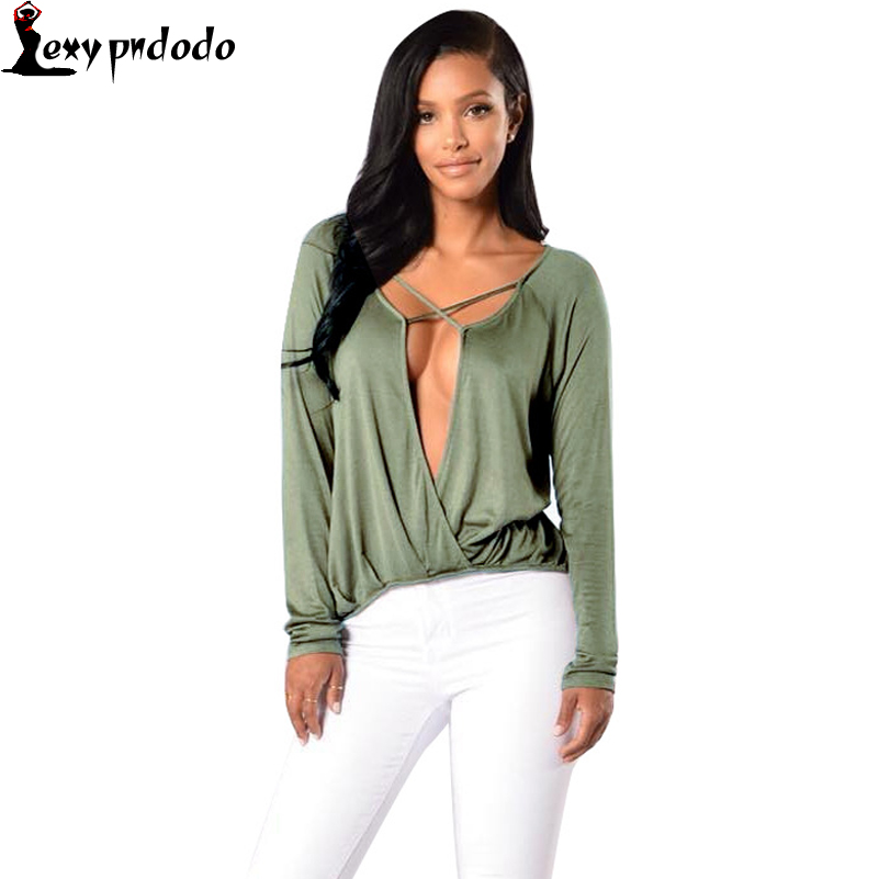 Plus Size  T-Shirt New Fashion 2016 Long Sleeve V-neck Chiffon Vintage t-shirt Tops shirt Top Quality V-Neck Casual Sexy Tee NEW