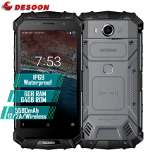 "Doogee S60 IP68 Waterproof Mobile Phone 5580mAh Wireless n Flash Charge 5.2 "" 1080P 6GB+64GB 21MP Glonass NFC Fingerprint ID 4G"