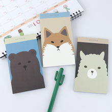 1 pc Lovely Animal NoteBook Paper Diary Mini Pocketbook Memo Writing Stationery For School Office Promotional Gifts Supplies(China)