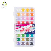 Conda 36 Colors Professional Solid Watercolor Paints Outdoor Fundamentals Painting Pigment Portable Sketch Color Art Tools(China)
