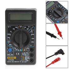 Digital Multimeter LCD Display Electric Voltmeter Ammeter Ohm Tester AC/DC Testers Meter Digital Multimeters Overload Protection(China)