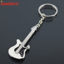 New Fashion Guitar Keychain For Bag Handbag Key Ring Car Key Pendant Amazing Aug Hot Selling