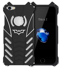 i7 i7P R-Just Batman Mobile Phone case Aluminum Metal Armor cover for Apple iPhone 7 / 7 Plus with R Just Medal Holder bracket