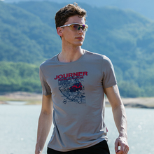 Outdoor T Shirt Man Hiking T-shirt Gym Running Short Sleeve Dry Fit T-shirts Fishing Clothes Mountain Sportwear Breathable
