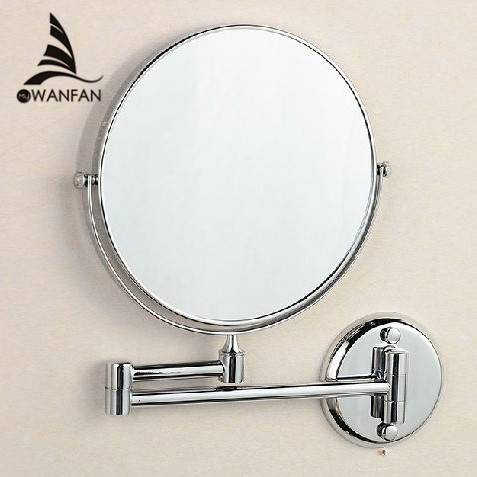Bath Mirrors 8 Round Wall Mirror 3 X Magnification Dual Face Makeup Cosmetic Mirrors Brass Bathroom Mirror 1308L<br>
