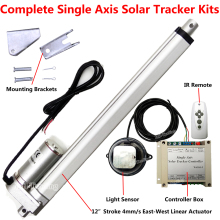 "1000W Single Axis Sunlight Tracking Solar Panel Tracker DIY Kits -12"" Linear Actuator +Controller +Remote for Sun Track System"