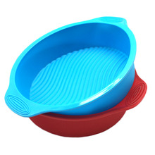 Good Quality 100% Food Grade Round Shape 29X24.5CM Silicone Cake Pan With Handle,Silicone cake mould, DIY Cake tools(China)