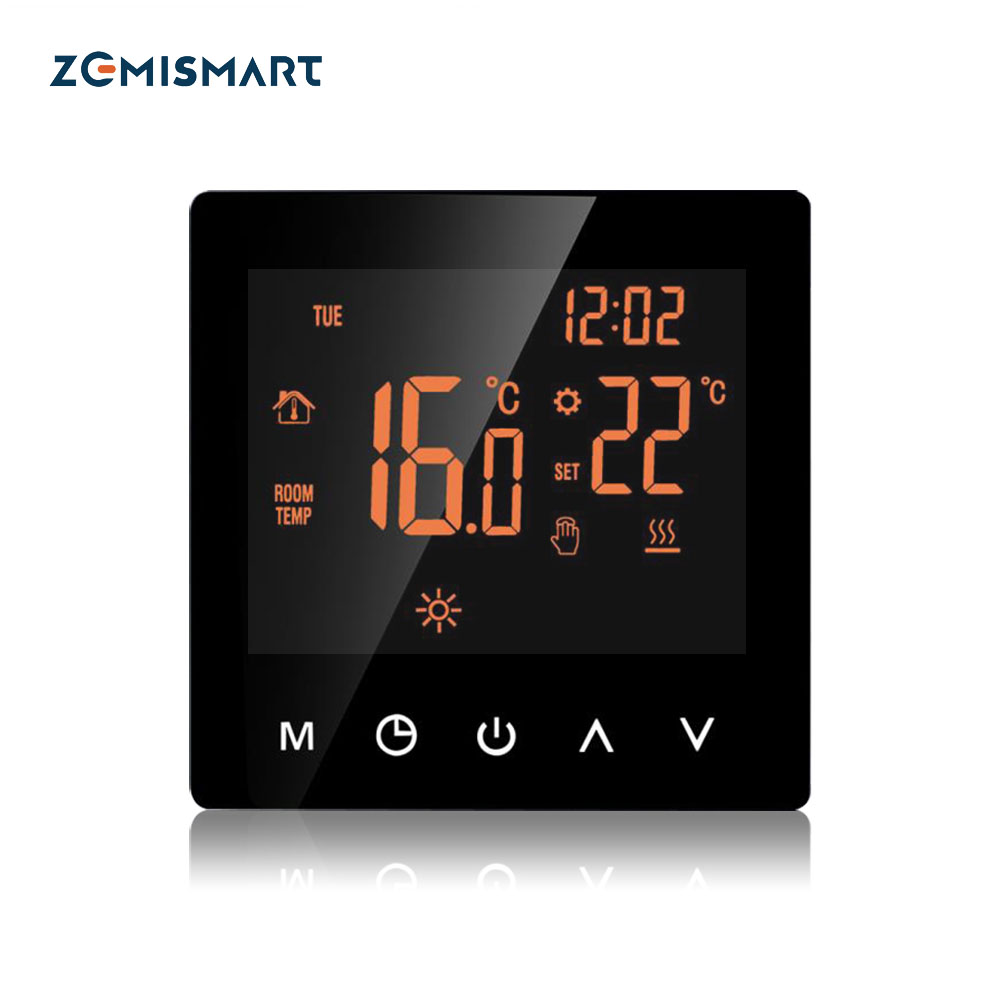Heating Thermostat for Electric Floor Heater with LCD Touch Screen Weekly Programmable