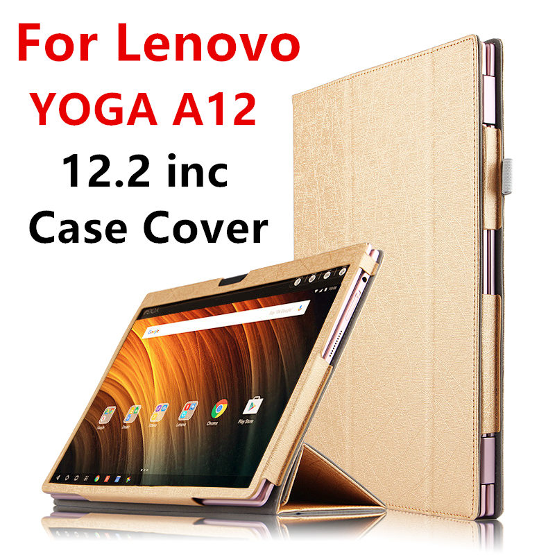 Case For Lenovo YOGA A12 Protective Smart cover Protector Leather Tablet PC For YOGA A12 PU Sleeve 12.2 inch Cases Covers Holste<br>
