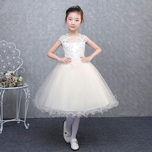 New Cheap Girls Dresses 2017 Custom Made Flower Girls Dresses Princess Communion Gown Free Shipping