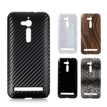 Phone Case For Asus Zenfone Go ZB500KL Carbon Fiber Leather Coated Phone Cover Coque For Asus Zenfone Go ZB500KL Hard Cases Capa