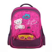 Delune Kids Backpack Schoolbags for Boys Girls New Design Cute Cartoon Bear Schoolbags High Quality Silk Printed SchoolBags
