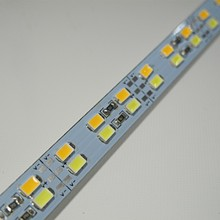 100pcs/lot DHL free Samsung chip Cool with Warm White CW+WW double color 50cm 5630 hard LED bar light Rigid Strip max 25w DC12V(China)