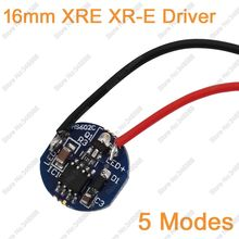 5pcs/lot 16mm 5 Modes Cree XRE XR-E P4 Q5 Q3 LED Driver Lighting Transformer DC3.7V 700mA Output