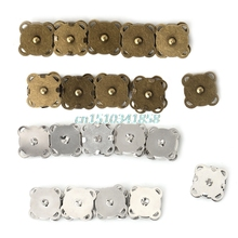 10PCS Magnetic Clasp Purse Snaps Closures Sewing Button Bag Press Studs 14/18mm #Y51#(China)
