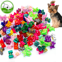 Cute Handmade Dog Hair Bows With Rubber Bands Small Bowknot Cat Puppy Grooming Accessories For Dogs Charms Gift Mix Styles(China)