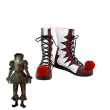 Stephen King's It Pennywise boots Halloween cosplay shoes Carnival Joker boots Unisex Adult clown fancy boots(China)
