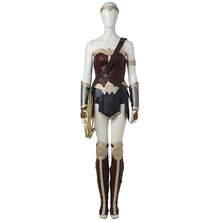 Wonder Woman Diana Prince Cosplay Costume Batman v Superman Dawn of Justice Cosplay Outfit Superhero Halloween Party Custom Made(China)
